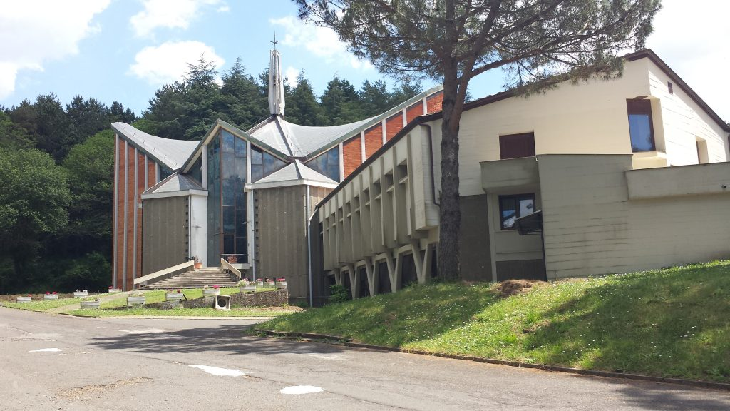 Outside view of the chapel at Ad Gentes