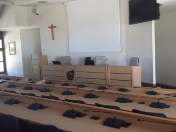 A meeting room at the Ad Gentes center