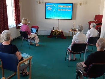 The York community at the virtual Pentecost Mass at St Bede's Centre